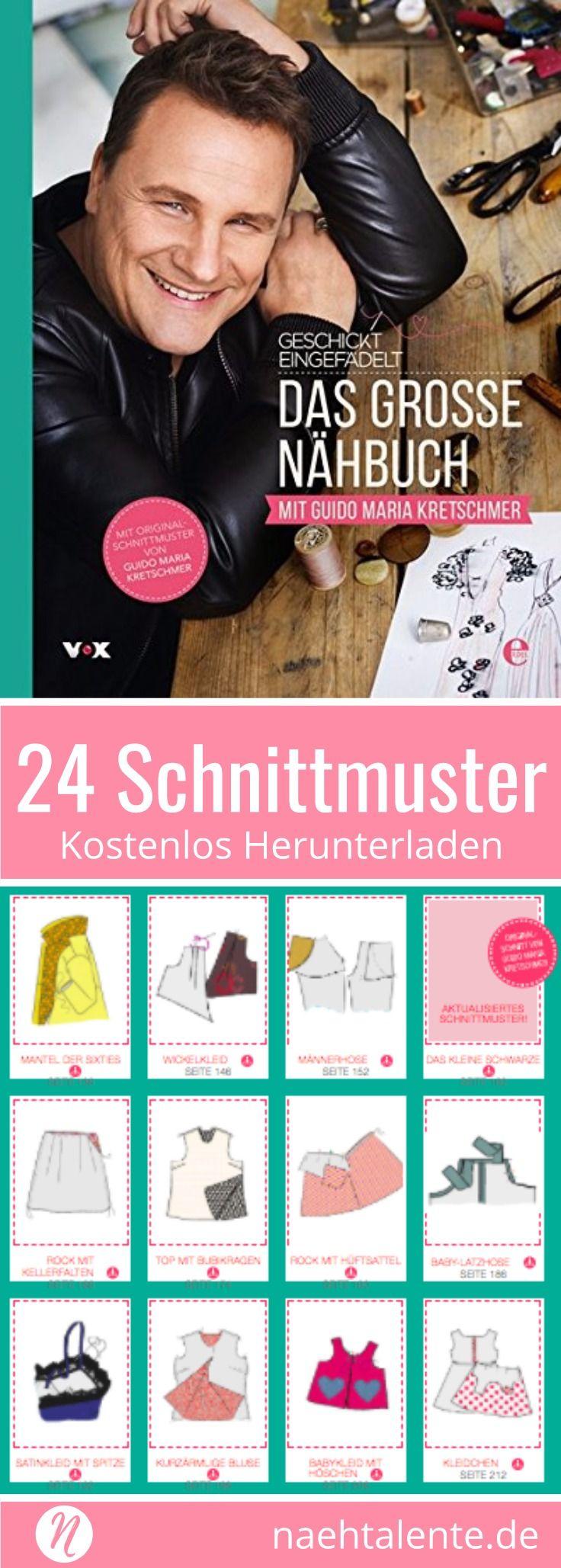24 Schnittmuster kostenlos aus der genialen Nähshow Geschickt Eingefädelt ❤ Näh deine Traumgarderobe mit diesen sensationellen Entwürfen ❤ Alle Schnitte zum Ausdrucken zuhause ❤ Geschickt eingefädelt: Das große Nähbuch von Guido Maria Kretschmer ❤ Alle Schnittmuster aus Buch und Show ❤ ✂ Nähtalente.de ✂ #nähen #freebook #schnittmuster #gratis #nähenmachtglücklich #freesewingpattern #handmade #diy