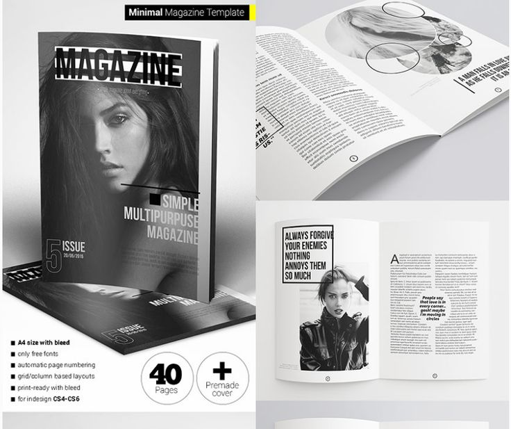20 best 18 Magazine Templates With Creative Print Layout Designs ...