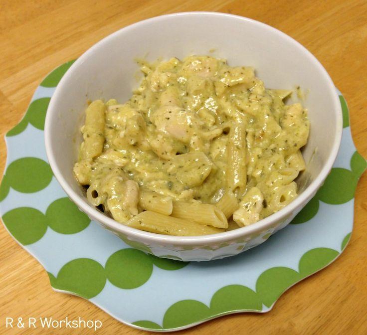 R & R Workshop: Recipe | Pesto Chicken Pasta