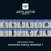 Animated People Workers 1  Includes 10 3D human models in work clothing, with 5…