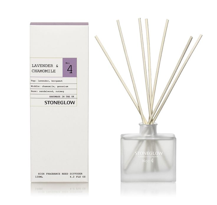 simple white packaging for these reed diffusers