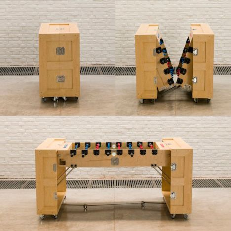 Who doesn't love a foosball table that can be hidden?