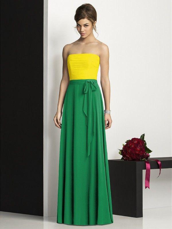 Purple yellow green dress
