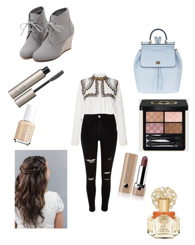 """""""Day out"""" by fashion-girl-katrina on Polyvore featuring Isabel Marant, Marc Jacobs, Gucci, Vince Camuto, Essie, Ilia, Dolce&Gabbana, WithChic, women's clothing and women"""