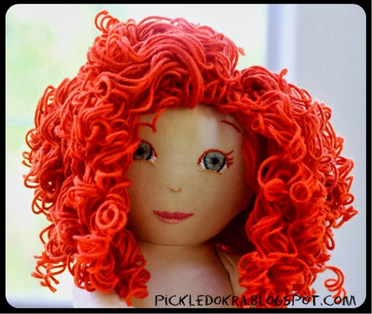 Learn to make a gorgeous curly yarn wig for your next handmade doll!