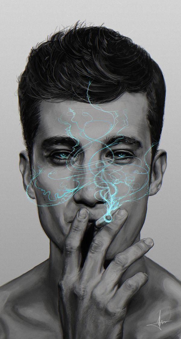Blue Smoke by André Guerreiro, via Behance