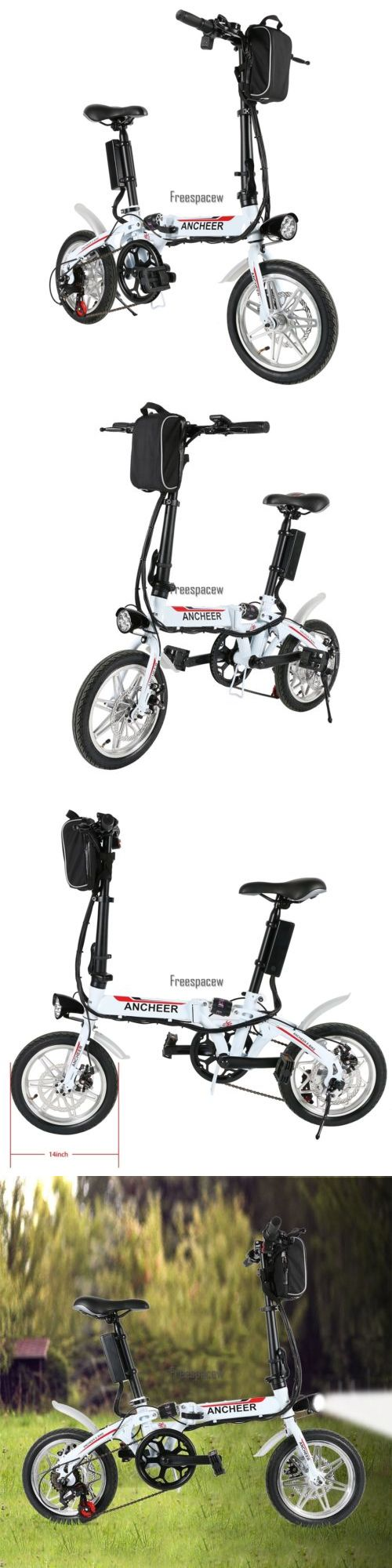 Electric Bicycles 74469: 14 Folding Electric Bike Cycling 36V 250W E-Bike Bicycle Fast Usb Charging -> BUY IT NOW ONLY: $445.25 on eBay!
