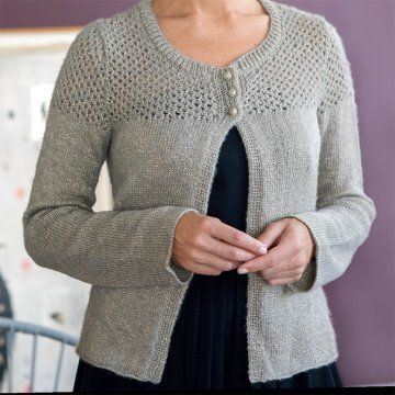Tricoter un gilet pour femme à manches longues