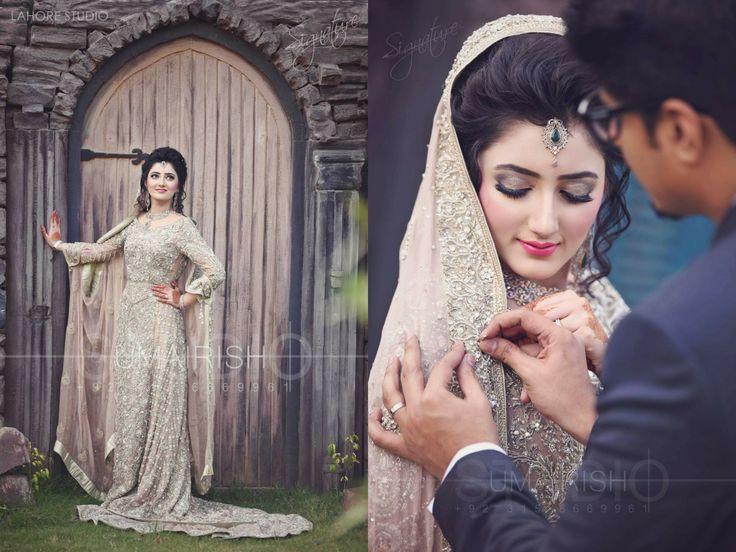 Stunning Bride and her beautiful dress will long tail, photography by Umairish studio