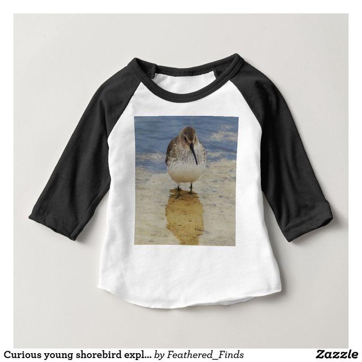 Curious young shorebird exploring baby T-Shirt