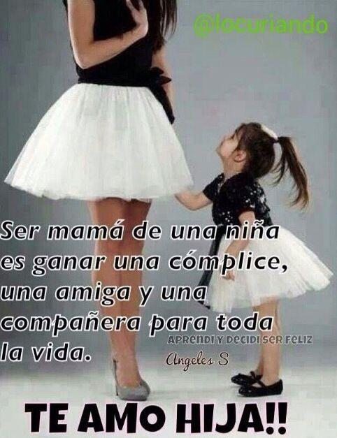 Ser madre --- muy cierto!! Yo y mi mamá. Y yo y mi hija :)