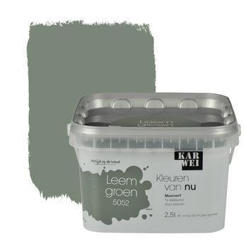 KARWEI Kleuren van Nu muurverf mat leemgroen 2,5 l kopen? Verfraai je huis & tuin met Muurverf kleur van KARWEI