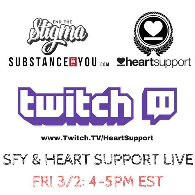 I (@brianmccollom of SFY) will be going LIVE with @heartsupport this Friday from 4-5 PM EST to spread hope and healing! This wonderful org has an amazing team and is a pleasure to be combining forces with them to spread our stories in hope that our experience may be able to guide someone else towards a path of betterment we can achieve only through learning awareness and empathetic connection!   The channel is http://ift.tt/2COeBGe   Heart Support was founded by @Jakeluhrsabr from #Grammys…