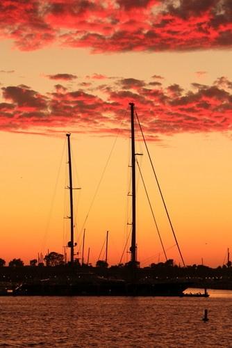 A Marina del Rey sunset. I should have been a sailor.