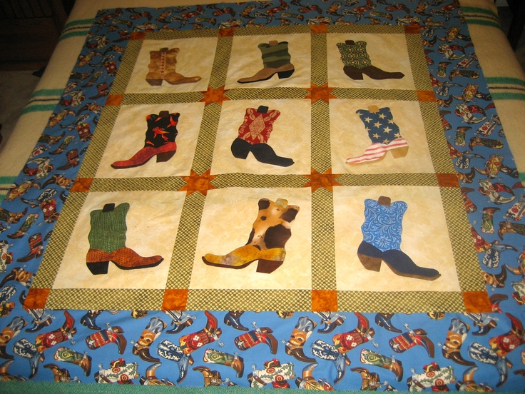 Guy S Cowboy Boots Quilt All My Humble Projects