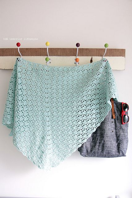 Crochet shawl and my new tote shopping bag by IDA Interior LifeStyle, via Flickr