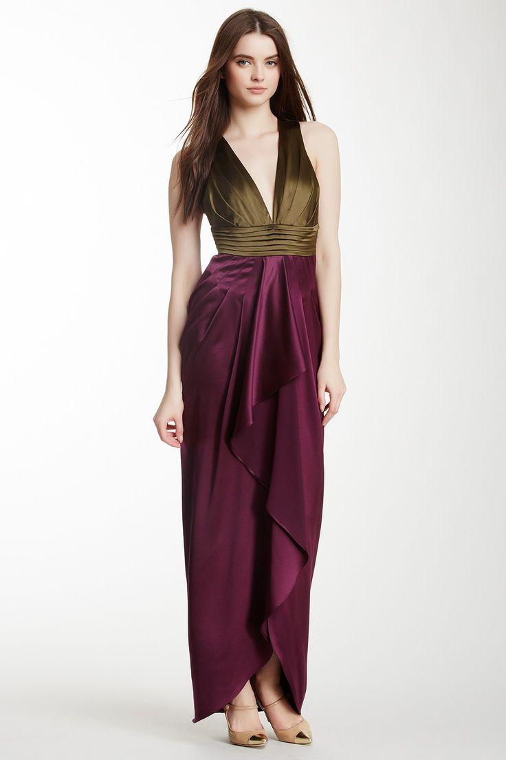 Catherine Malandrino   Chartres Colorblock Silk Gown   Nordstrom Rack