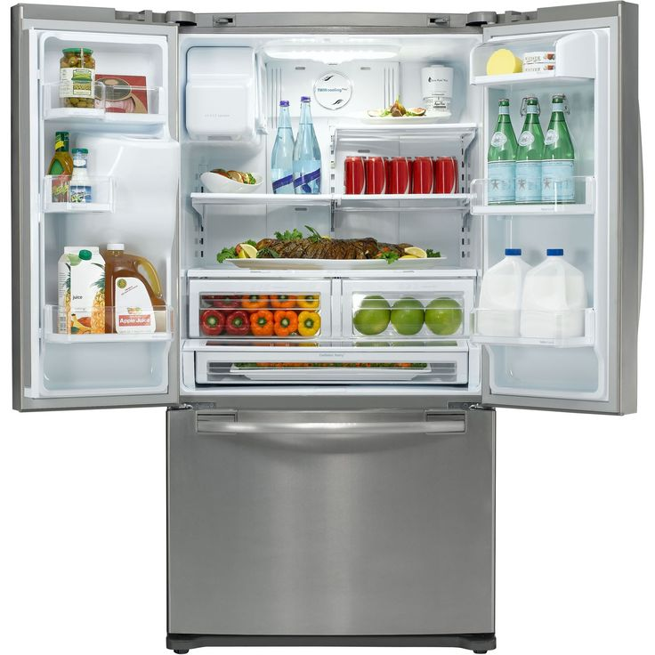 28 5 cu ft stainless steel french door refrigerator for 0 1 couch to fridge