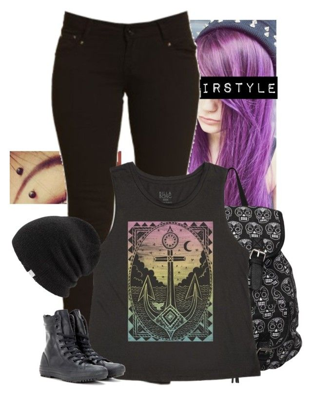 """muscle tees"" by sweet-ace-of-hearts ❤ liked on Polyvore featuring Billabong, Converse and Coal"