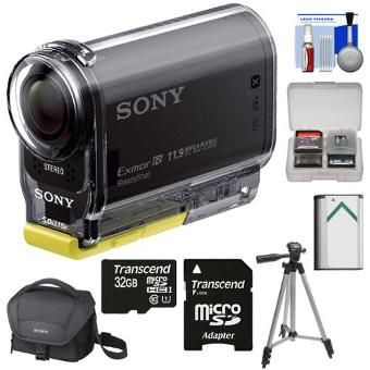 Sony Action Cam HDR-AS20 Wi-Fi 1080p HD Video Camera Camcorder with 32GB Card...