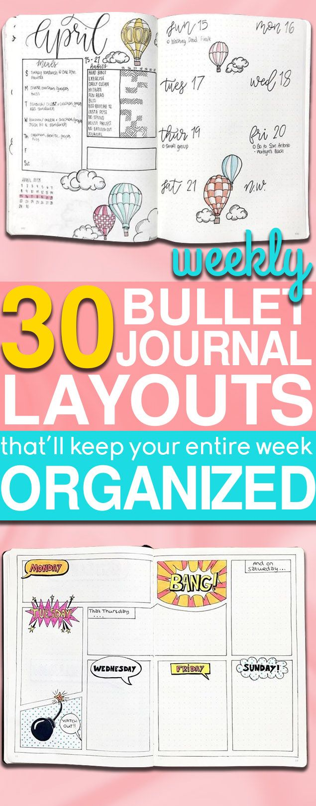 30 Bullet Journal Weekly Spread Ideas To Organize Your Entire Week