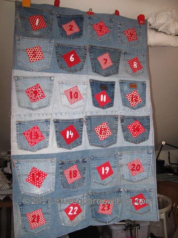 Denim Advent Calendar Pockets