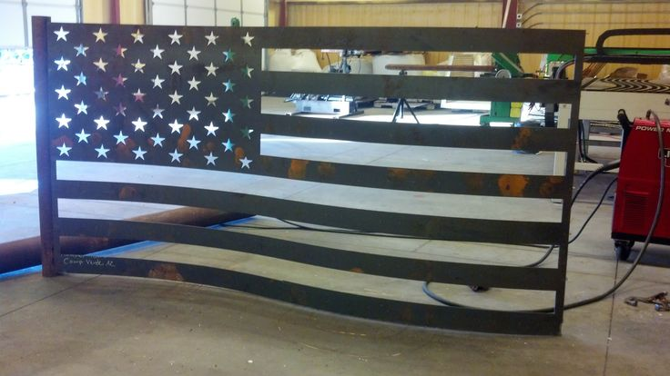 This Is A 4 X8 American Flag All Cut With Hypertherm