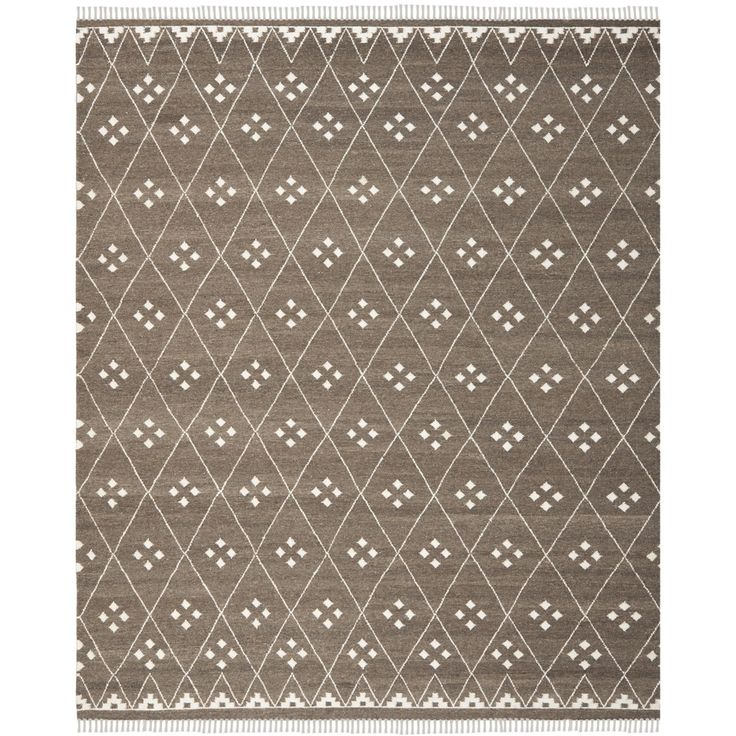Safavieh Hand-woven Natural Kilim Brown/ Ivory Wool Rug (8' x 10') - Overstock™ Shopping - Great Deals on Safavieh 7x9 - 10x14 Rugs