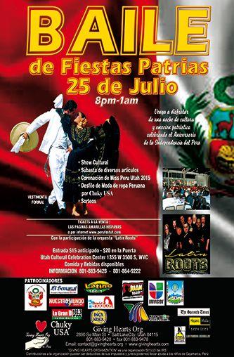 Baile de Fiestas de Independencia de Perú  http://www.elperiodicodeutah.com/2015/07/eventos/baile-de-fiestas-de-independencia-de-peru/