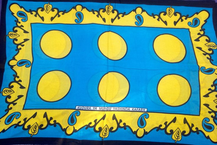 """Stoff afrikanisch - afrikanischer Stoff: Kanga  """"power""""  - ein Designerstück von Madukani bei DaWanda"""