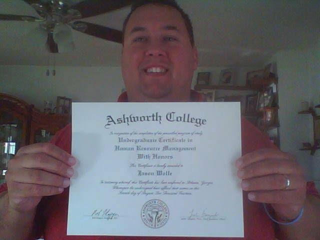 management resource human undergraduate certificate congratulations college resources program jason programs graduated wolfe recently huge he