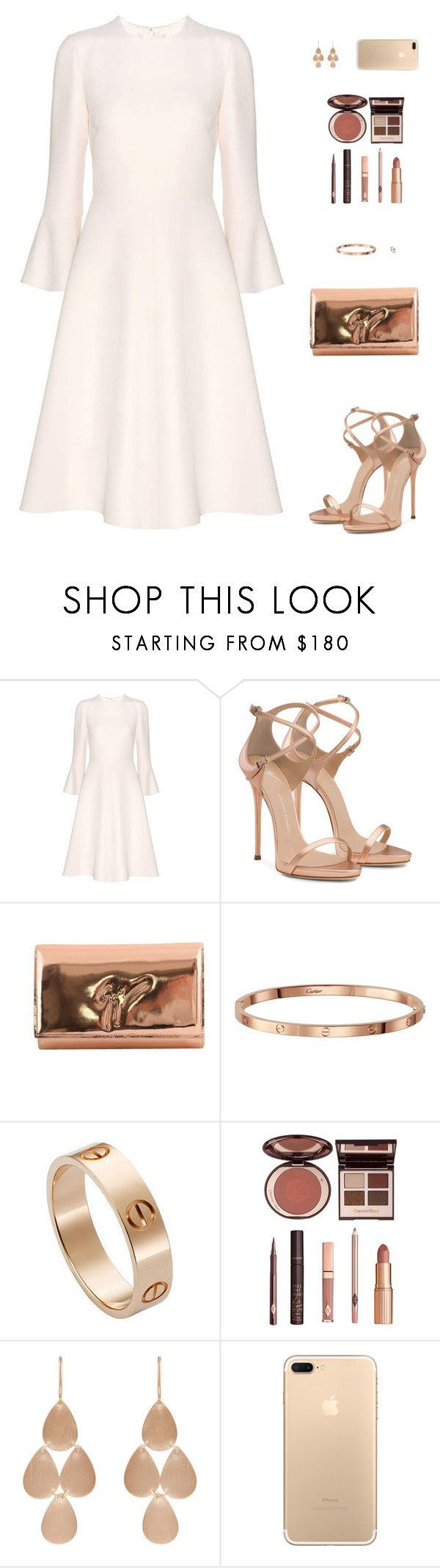 """Sin título #4583"" by mdmsb on Polyvore featuring moda, Valentino, Giuseppe Zanotti, Cartier, Charlotte Tilbury y Irene Neuwirth"