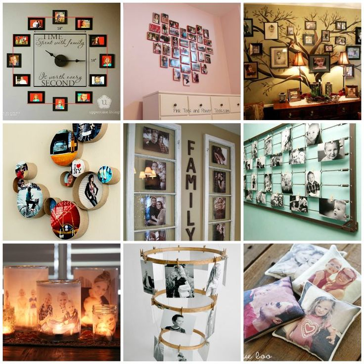 35+ Creative DIY τρόποι για την απεικόνιση οικογένειά σας Φωτογραφίες