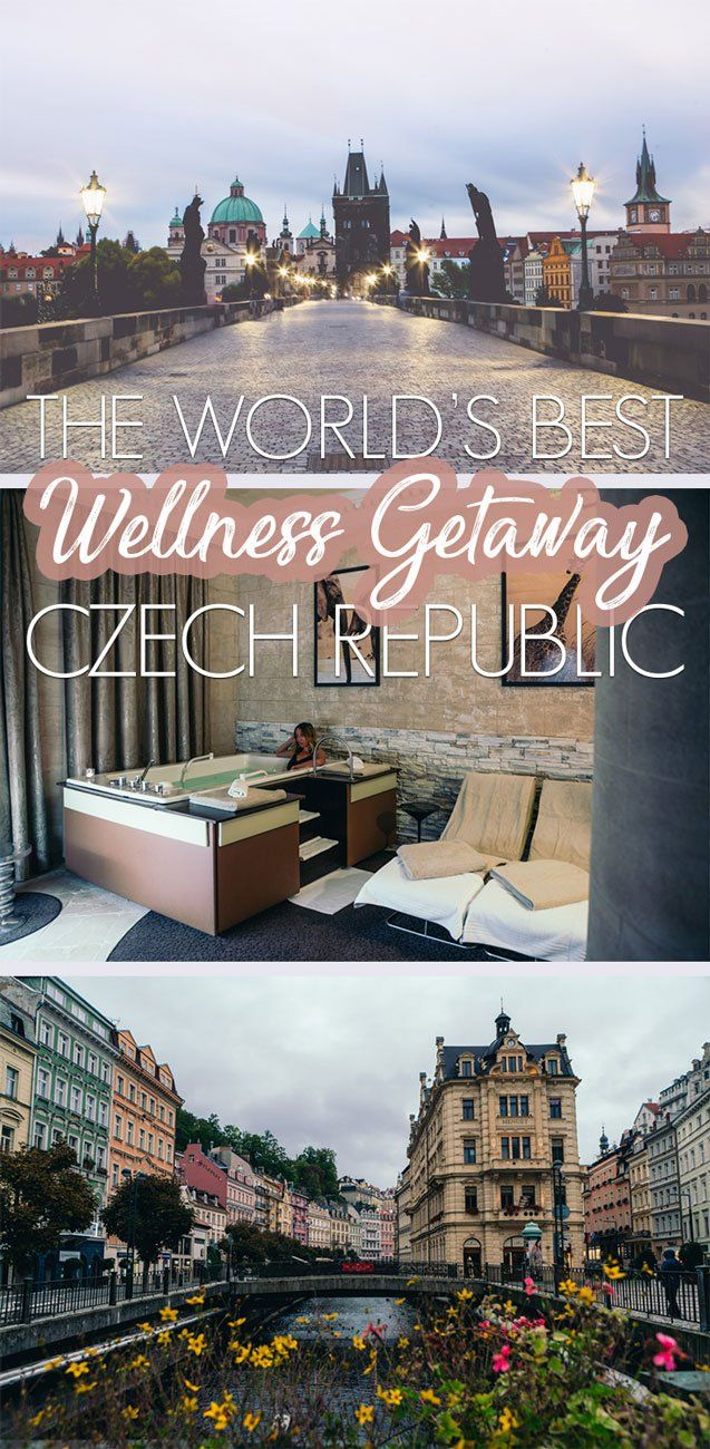 Why the Czech Republic is one of the world's best wellness getaways and destinations! From towns with nutrient rich mud, curative drinking waters, and mineral waters you need to make this your next stop to treat yourself! #europetravel #czechrepublic Czech Republic Travel | Europe Travel | Wellness Getaways | Spa |