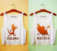 Resultado de imagen de camiseta de mejores amigas hakuna