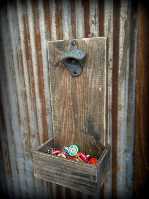 Beer Bottle Opener and Cap Catcher reclaimed