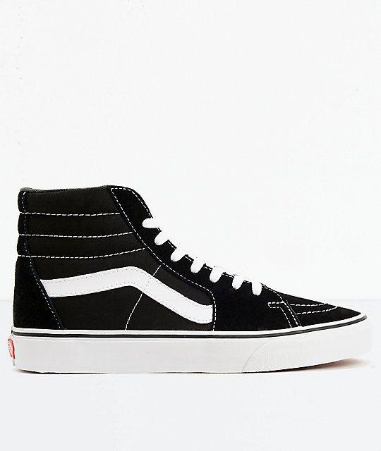 f99029cdffb5ea New Vans Sk8-Hi Black   White Skate Shoes Men s Sz 7.5 Wmn s Sz 9  fashion   clothing  shoes  accessories  unisexclothingshoesaccs  unisexadultshoes  (ebay ...