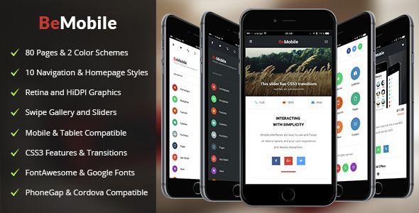 BeMobile   Mobile & Tablet Responsive Template - Mobile Site Templates