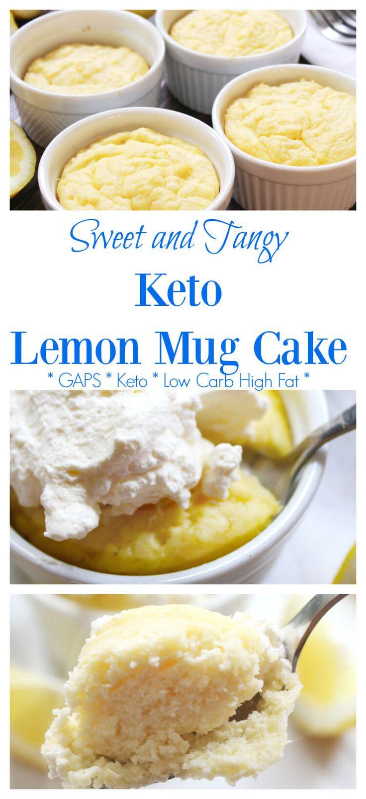 Keto Lemon Mug Cake   Recipe   Mug recipes, Lemon mug cake ...