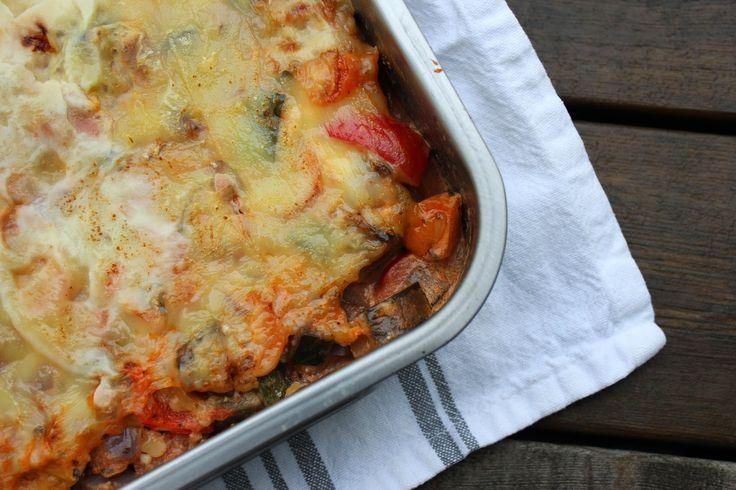 Kristins Middagstips: Meat Free Monday - Vegetarlasagne med linser og co...