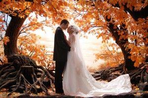 fall and weddings