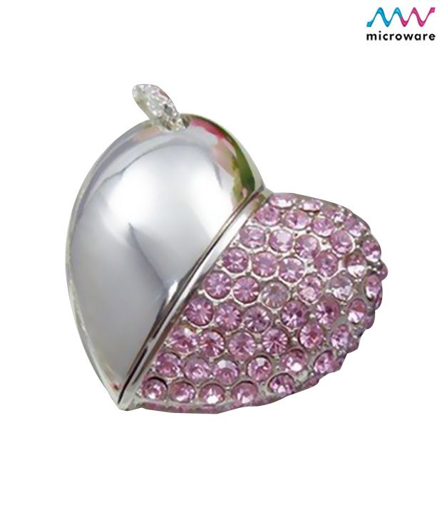 Microware 16GB Pink Metal Heart Shape Designer Pendrive, http://www.snapdeal.com/product/microware-16gb-pink-metal-heart/291062