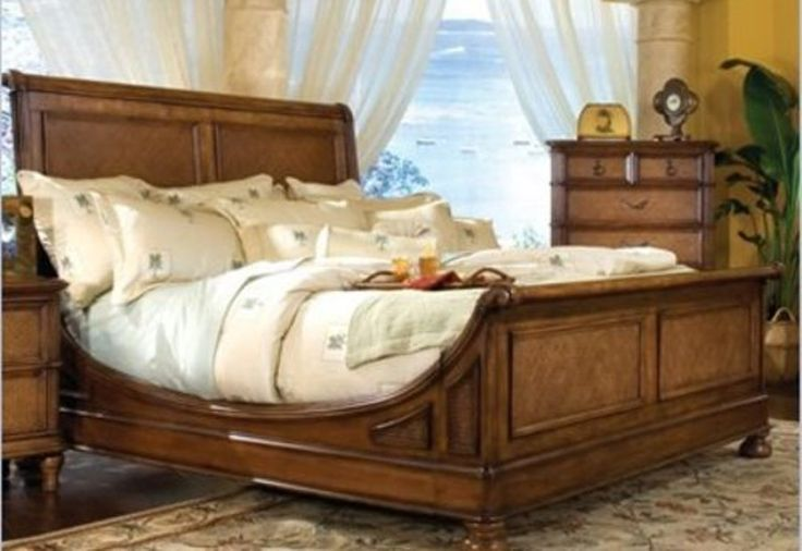 north shore sleigh bed bedroom set