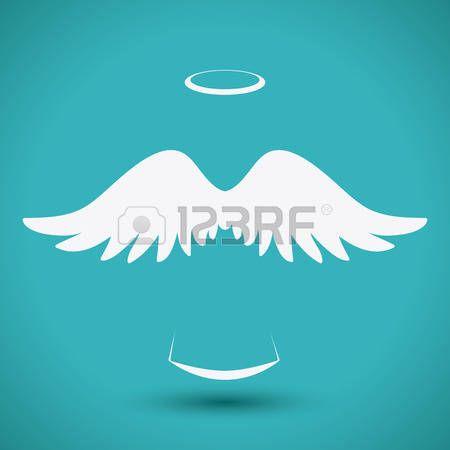 Bird silhouette: Angel design over blue background, vector illustration,