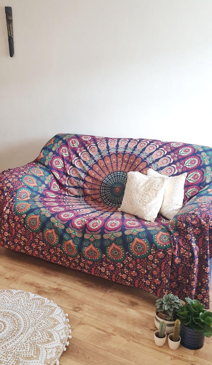 Large Mandala Sofa Throw Bohemian Wall Tapestry Double