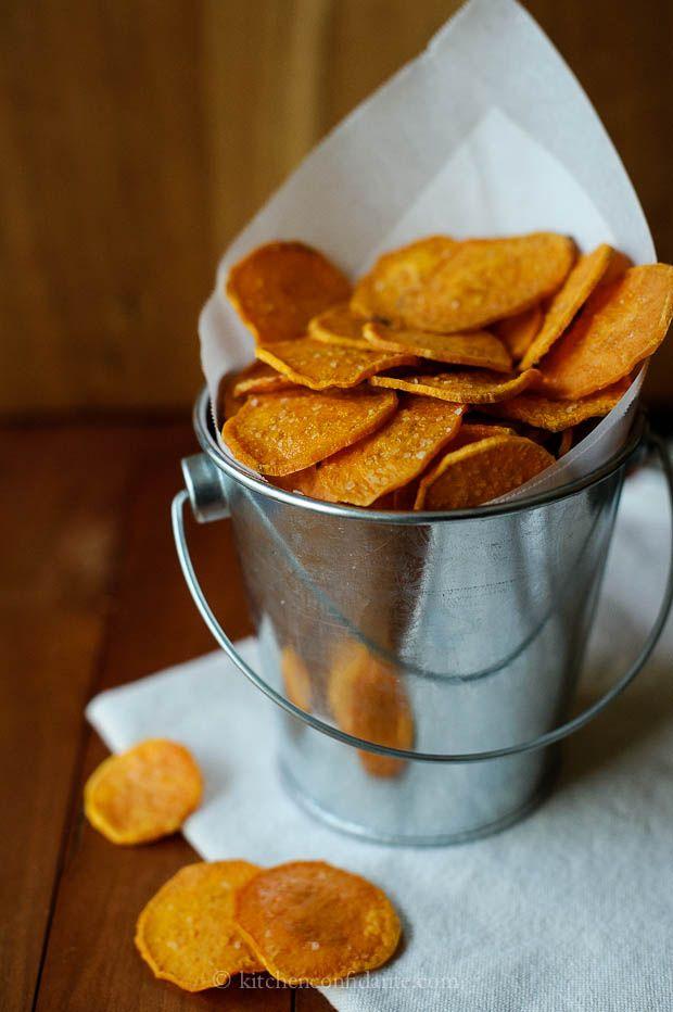 Sweet Potato Chips by @Liren Baker | Kitchen Confidante