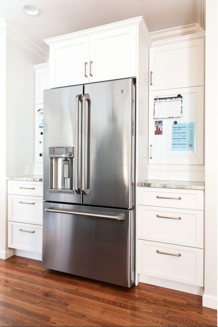 White kitchen cabinets dark wood island mosaic - Elkay kitchen cabinets ...
