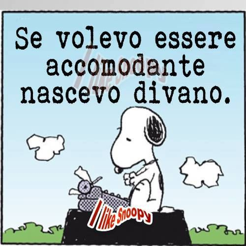 Snoopy non è accomodante..