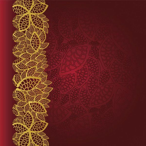 золотой узор на красном