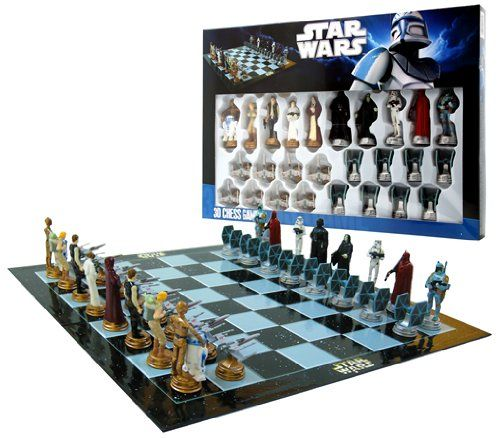I am all over this!!! Star Wars Chess Set / Chess Game Board with Star Wars Figurines Chess Pieces (Game Board Size 17″ x 17″) « Game Searches